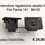Interruttore regolazione assetto fari Fiat Panda 141