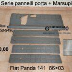 Serie pannelli porta + Marsupio Fiat Panda 141 86>03