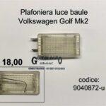 Plafoniera bagagliaio Volkswagen Golf Mk2 83>89