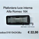 Plafoniera luce interna Alfa Romeo 164