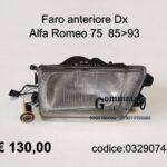 Faro anteriore Dx Alfa Romeo 75  85>93