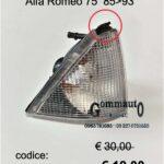Freccia faro ant. Dx Alfa Romeo 75 85>93