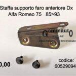Staffa supporto faro Dx Alfa Romeo 75  85>93
