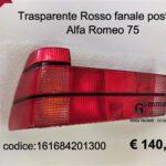 Trasparente fanale posteriore rosso Sx Alfa Romeo 75 88>93