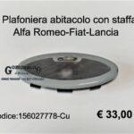 Plafoniera luce interna con staffa Alfa Romeo-Fiat-Lancia
