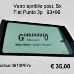 Vetro apribile post. Sx Fiat Punto 3p 93>99