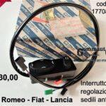 Interruttore regolazione sedili anteriori Alfa 164/Lancia Thema