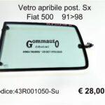 Vetro apribile post. Sx Fiat 500