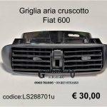 Bocchetta/griglia aria cruscotto Fiat 600