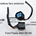 Connettore faro anteriore Ford Fiesta