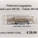 Plafoniera bagagliaio Seat Leon-Toledo
