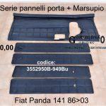 Serie pannelli porta + Marsupio Fiat Panda 141