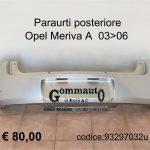 Paraurti posteriore Opel Meriva A 03>06