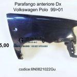 Parafango anteriore Dx Vw Polo 99>01