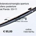 Modanatura/maniglia apertura cofano post. Fiat Panda 03>11