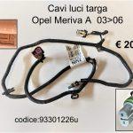 Cavi luci targa Opel Meriva A 03>06