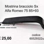 Mostrina bracciolo Sx Alfa Romeo 75
