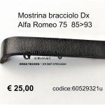 Mostrina bracciolo Dx Alfa Romeo 75