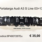 Portatarga Audi A3 S Line 03>13