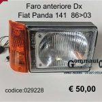 Faro anteriore Dx Fiat Panda 141 86>03