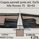Coppia pannelli porta anteriori Alfa 75
