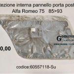 Protezione interna pannello porta post. Sx Alfa 75