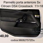 Pannello porta ant. Sx Citroen DS4 11>18