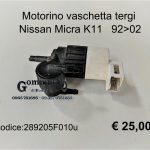 Motorino vaschetta tergi Nissan Micra